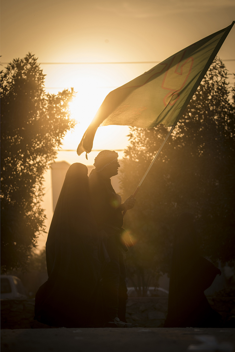 سوگواره چهارم-عکس 17-سید ولی  شجاعی لنگری-پیاده روی اربعین از نجف تا کربلا