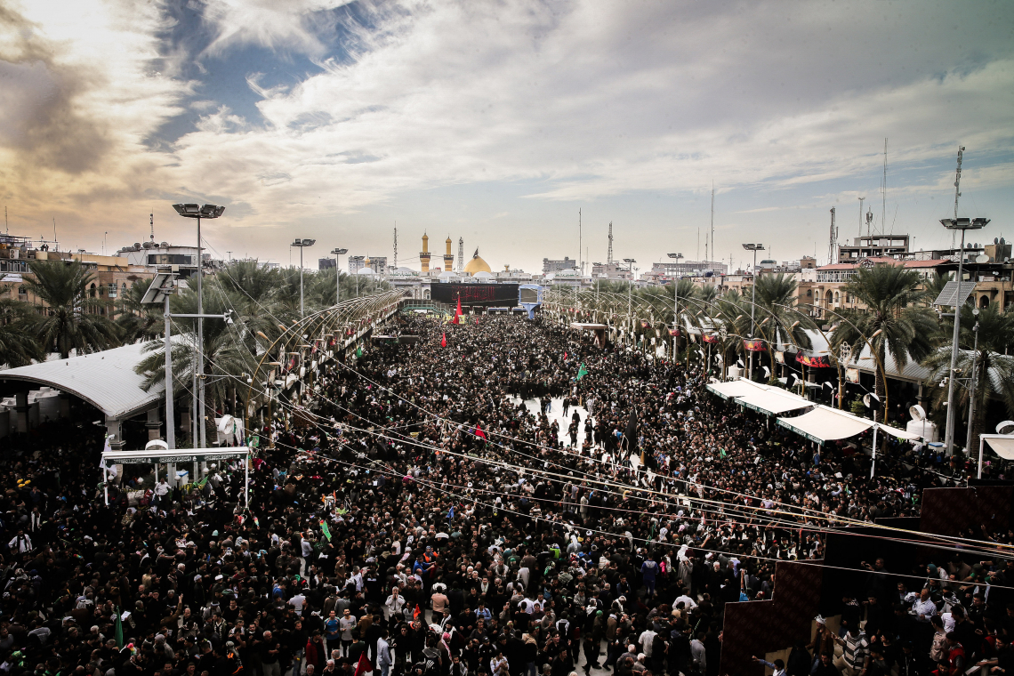 سوگواره پنجم-عکس 3-سید محمود حسینی-پیاده روی اربعین از نجف تا کربلا