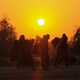 سوگواره سوم-عکس 30-احمد قارداش پور طرقی-پیاده روی اربعین از نجف تا کربلا