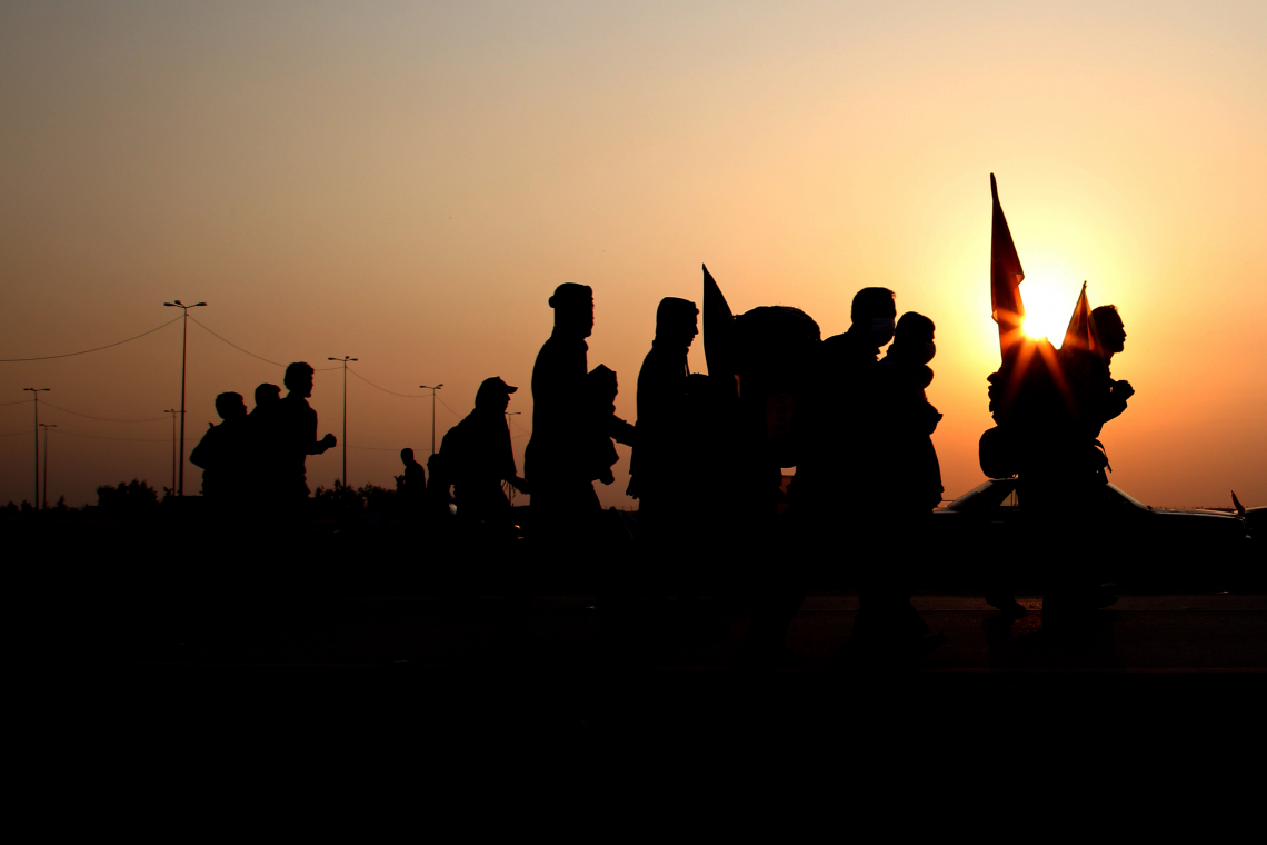 سوگواره پنجم-عکس 2-پوریا پاکیزه-پیاده روی اربعین از نجف تا کربلا