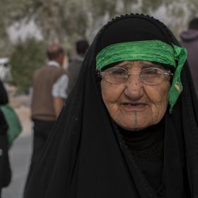 سوگواره پنجم-عکس 21-عباس مشهدی آقایی-پیاده روی اربعین از نجف تا کربلا