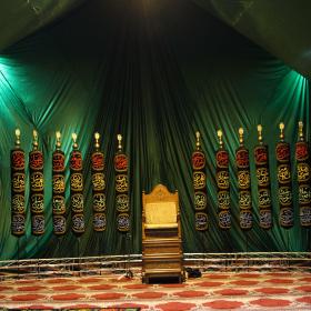 سومین سوگواره عاشورایی پوستر هیأت-علی اصغر دشمیر-بخش جنبی-فضاسازی هیأت (دکور