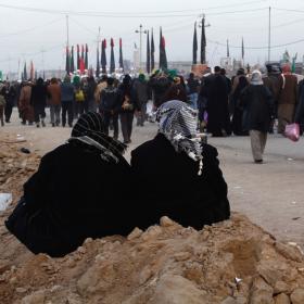 سوگواره سوم-عکس 62-امير رضا فخري-پیاده روی اربعین از نجف تا کربلا