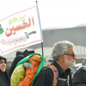 سوگواره چهارم-عکس 30-محمد علیپور شهیر-پیاده روی اربعین از نجف تا کربلا