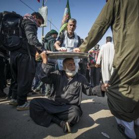 سوگواره پنجم-عکس 29-حسین علی پور-پیاده روی اربعین از نجف تا کربلا