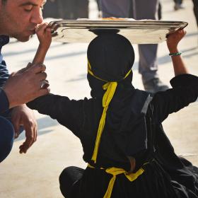سوگواره سوم-عکس 8-حسین علی پور-پیاده روی اربعین از نجف تا کربلا