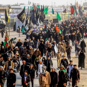 سوگواره چهارم-عکس 18-مجید حجتی-پیاده روی اربعین از نجف تا کربلا