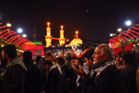 سوگواره پنجم-عکس 7-مرتضی شادور-پیاده روی اربعین از نجف تا کربلا