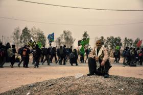 سوگواره پنجم-عکس 4-مرتضی شادور-پیاده روی اربعین از نجف تا کربلا