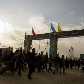 سوگواره چهارم-عکس 72-علی دهقان-پیاده روی اربعین از نجف تا کربلا