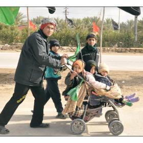 سوگواره دوم-عکس 10-حمید رضا حبیبی محب سراج-پیاده روی اربعین از نجف تا کربلا