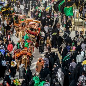 سوگواره چهارم-عکس 22-مجید حجتی-پیاده روی اربعین از نجف تا کربلا