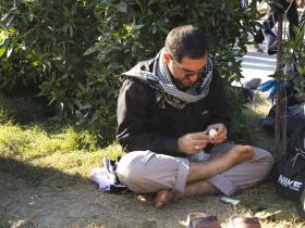 سوگواره دوم-عکس 1-فاطمه عابدی-پیاده روی اربعین از نجف تا کربلا