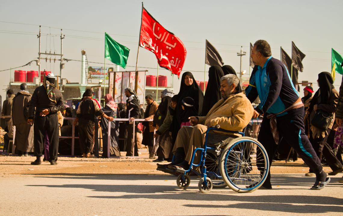 سوگواره سوم-عکس 2-محمد حسین ابراهیمی ورکیانی-پیاده روی اربعین از نجف تا کربلا