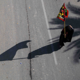 سوگواره پنجم-عکس 63-علی  حسن زاده-پیاده روی اربعین از نجف تا کربلا