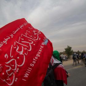 سوگواره پنجم-عکس 52-علی  حسن زاده-پیاده روی اربعین از نجف تا کربلا