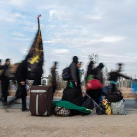 سوگواره چهارم-عکس 18-علی  حسن زاده-پیاده روی اربعین از نجف تا کربلا