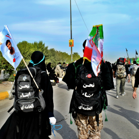 سوگواره پنجم-عکس 44-محمد حسین صادقی-پیاده روی اربعین از نجف تا کربلا
