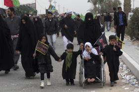 سوگواره دوم-عکس 15-امیر رضا فخری-پیاده روی اربعین از نجف تا کربلا