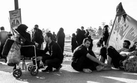 سوگواره پنجم-عکس 14-مهدی مهینی-پیاده روی اربعین از نجف تا کربلا