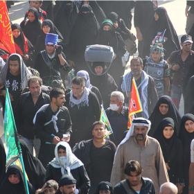 سوگواره چهارم-عکس 26-علی دوست-پیاده روی اربعین از نجف تا کربلا
