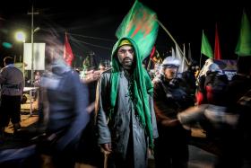سوگواره پنجم-عکس 36-سید محمود حسینی-پیاده روی اربعین از نجف تا کربلا