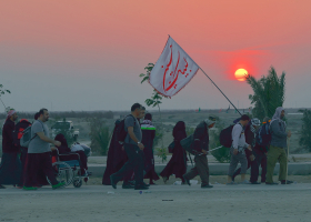 سوگواره چهارم-عکس 106-سید محمد جواد صدری-پیاده روی اربعین از نجف تا کربلا