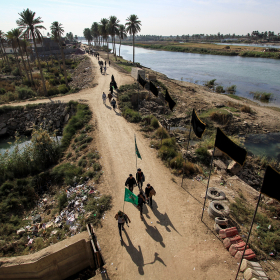 سوگواره چهارم-عکس 52-محمد حسن صلواتی-پیاده روی اربعین از نجف تا کربلا