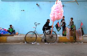سوگواره پنجم-عکس 32-فرشته ادب جو-پیاده روی اربعین از نجف تا کربلا