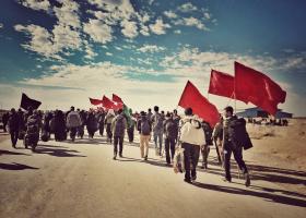 سوگواره چهارم-عکس 2-فاطمه سادات رضاتوفیق-پیاده روی اربعین از نجف تا کربلا