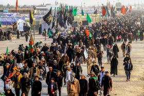 سوگواره پنجم-عکس 53-مجید حجتی-پیاده روی اربعین از نجف تا کربلا