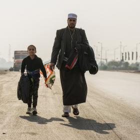 سوگواره پنجم-عکس 7-احسان جزینی-پیاده روی اربعین از نجف تا کربلا