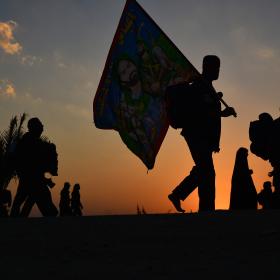 سوگواره پنجم-عکس 75-مهرداد  حسنی-پیاده روی اربعین از نجف تا کربلا