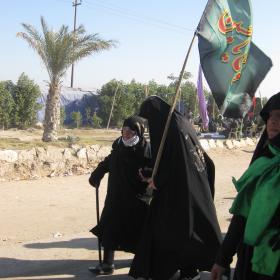 سوگواره دوم-عکس 6-محمد کشاورز-پیاده روی اربعین از نجف تا کربلا