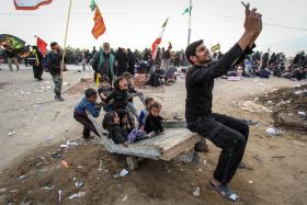 سوگواره چهارم-عکس 38-محمد حسن صلواتی-پیاده روی اربعین از نجف تا کربلا