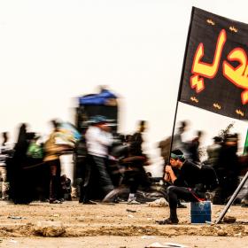 سوگواره چهارم-عکس 65-امیر قیومی-پیاده روی اربعین از نجف تا کربلا