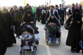سوگواره چهارم-عکس 27-مجید افشانی-پیاده روی اربعین از نجف تا کربلا