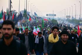 سوگواره سوم-عکس 3-حسین رضائی فرد-پیاده روی اربعین از نجف تا کربلا
