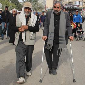 سوگواره چهارم-عکس 19-علی دوست-پیاده روی اربعین از نجف تا کربلا