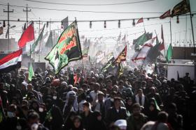سوگواره پنجم-عکس 15-سید محمود حسینی-پیاده روی اربعین از نجف تا کربلا