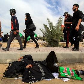 سوگواره پنجم-عکس 59-محمد حسن صلواتی-پیاده روی اربعین از نجف تا کربلا
