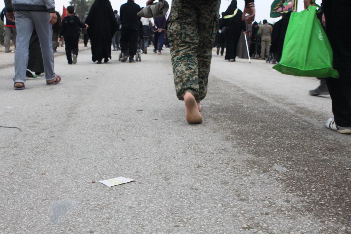 سوگواره سوم-عکس 42-سیده هاله حیدری-پیاده روی اربعین از نجف تا کربلا