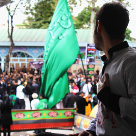 سوگواره سوم-عکس 5-سمانه شیرازی-جلسه هیأت فضای بیرونی