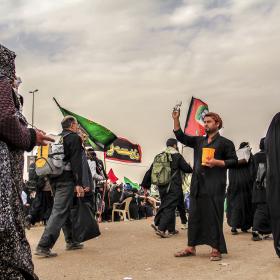سوگواره سوم-عکس 56-امیر قیومی-پیاده روی اربعین از نجف تا کربلا