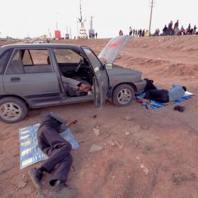 سوگواره چهارم-عکس 45-امير رضا فخري-پیاده روی اربعین از نجف تا کربلا