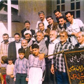 سوگواره چهارم-عکس 35-محمد حسین کلهر- جلسه هیأت قدیمی کهن