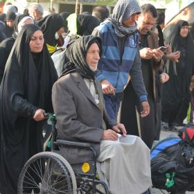سوگواره پنجم-عکس 15-فاطمه عاقل زاده-پیاده روی اربعین از نجف تا کربلا