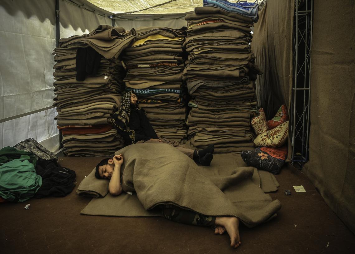 سوگواره پنجم-عکس 28-محمد عمارلو-پیاده روی اربعین از نجف تا کربلا