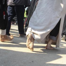 سوگواره سوم-عکس 47-امیر قیومی-پیاده روی اربعین از نجف تا کربلا
