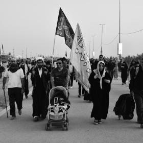 سوگواره چهارم-عکس 31-مهرداد  حسنی-پیاده روی اربعین از نجف تا کربلا